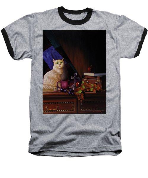 Grumpy Cat Baseball T-Shirt by Gene Gregory