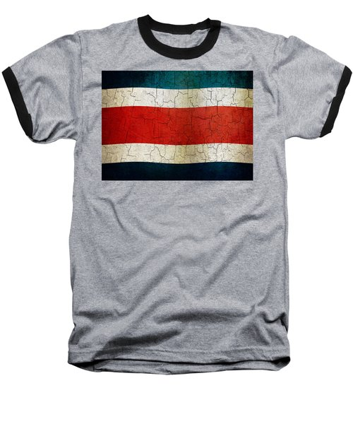 Grunge Costa Rica Flag Baseball T-Shirt