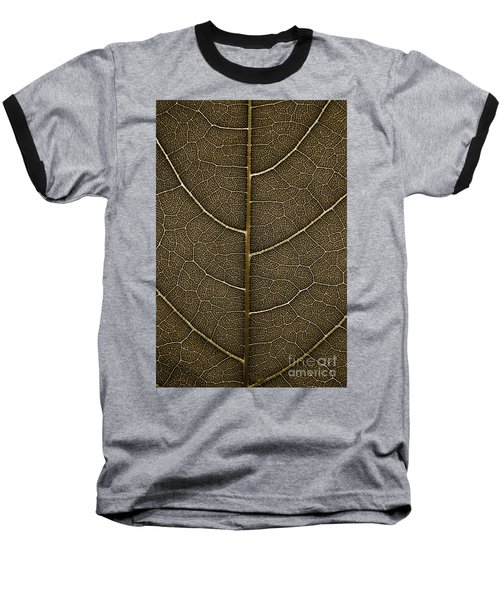 Grunge Leaf Detail Baseball T-Shirt by Carsten Reisinger