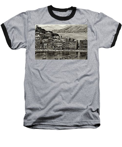 Grunge Seascape Baseball T-Shirt