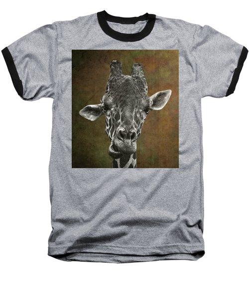 Grungy Giraffe 5654 Brown Baseball T-Shirt