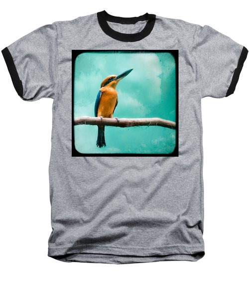Guam Kingfisher - Exotic Birds Baseball T-Shirt