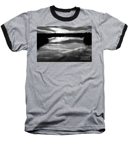Guana Beach Reflections Baseball T-Shirt