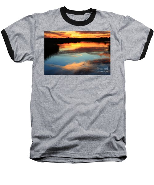 Guana River Sunset Baseball T-Shirt