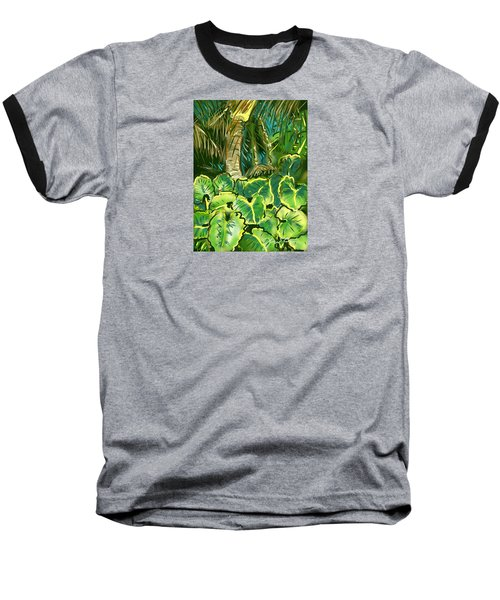 Guanabana Tropical Baseball T-Shirt by Jean Pacheco Ravinski