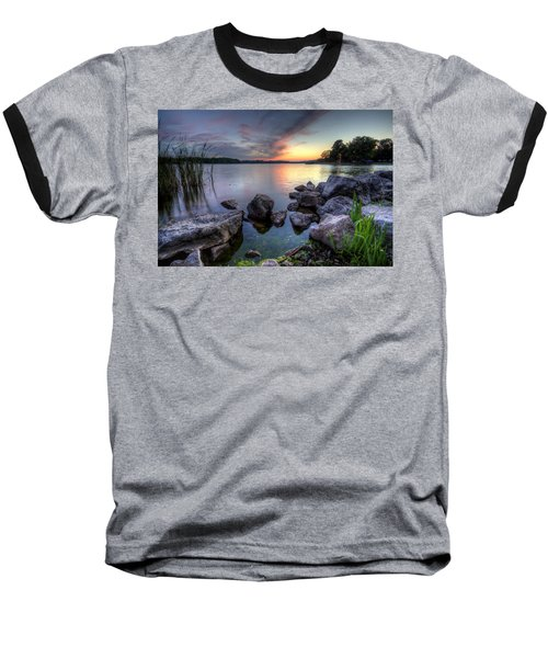 Guilford Lake Sunset Baseball T-Shirt