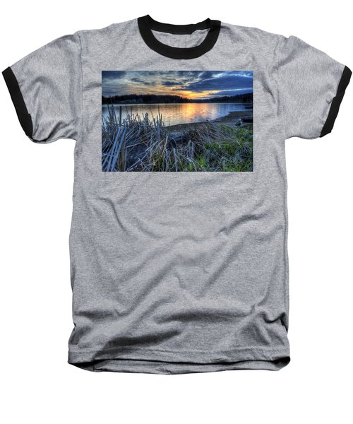 Guilford Lake Sunset Ohio Baseball T-Shirt
