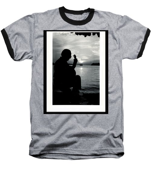 Guitarist By The Sea Baseball T-Shirt by The Art of Alice Terrill