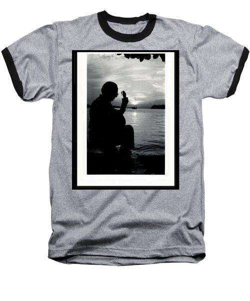 Guitarist By The Sea Baseball T-Shirt