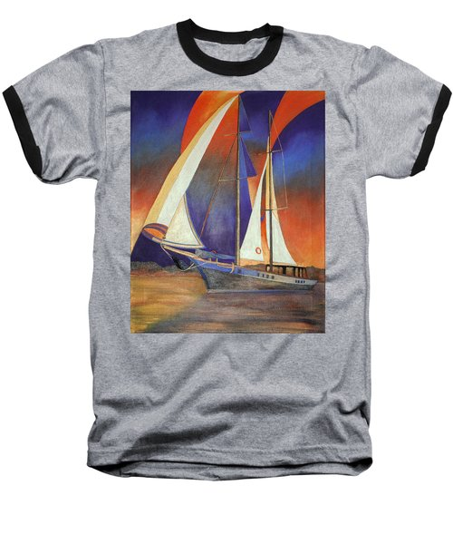 Gulet Under Sail Baseball T-Shirt