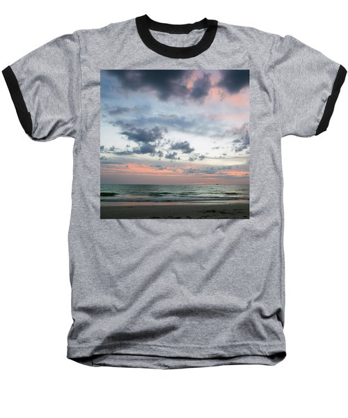 Gulf Of Mexico Sunset Baseball T-Shirt