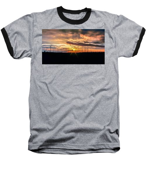 Gulf Shore Sunset Baseball T-Shirt by Rob Sellers
