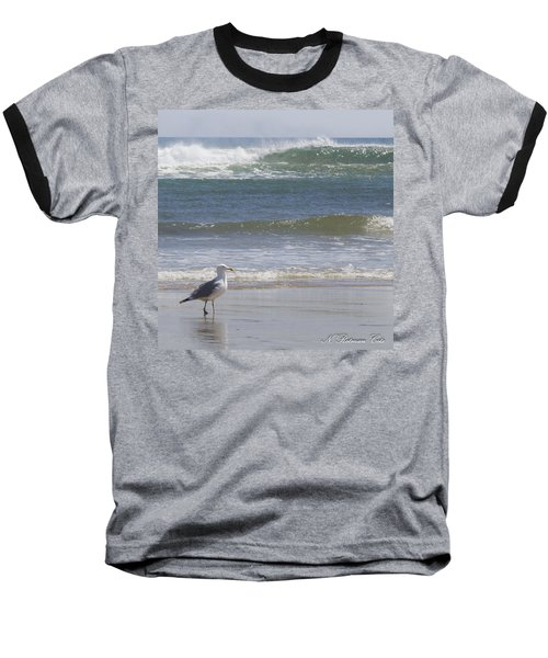 Gull With Parallel Waves Baseball T-Shirt
