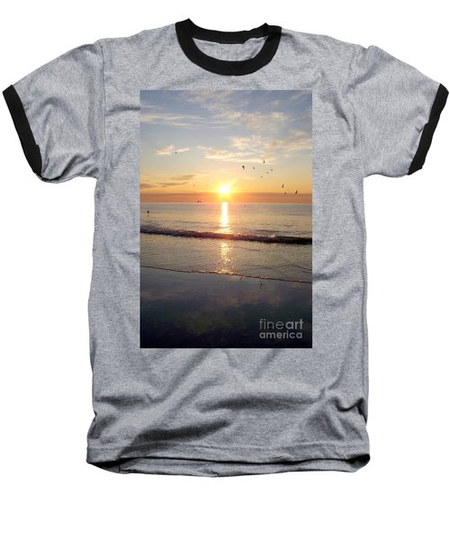 Gulls Dance In The Warmth Of The New Day Baseball T-Shirt by Eunice Miller
