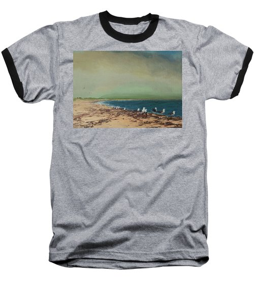 Gulls On The Seashore Baseball T-Shirt