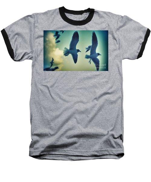 Gulls Baseball T-Shirt by Paulo Guimaraes