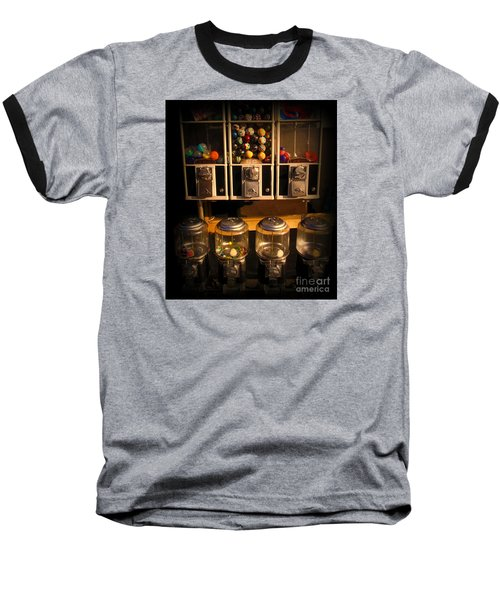 Gumball Memories - Row Of Antique Vintage Vending Machines - Iconic New York City Baseball T-Shirt