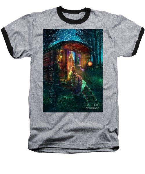 Gypsy Firefly Baseball T-Shirt by Aimee Stewart