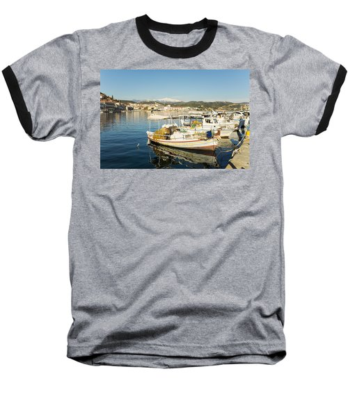 Gytheion Harbour Baseball T-Shirt