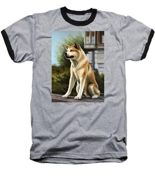 Hachi Painting Baseball T-Shirt