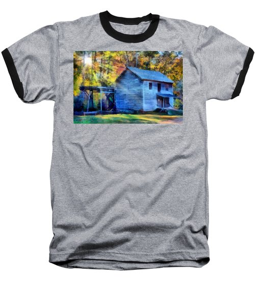 Hagood Mill With Sunrays Baseball T-Shirt