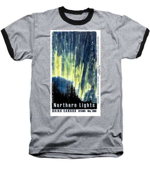 Baseball T-Shirt featuring the photograph Haiga Poster Haiku Canada Conference  by Peter v Quenter