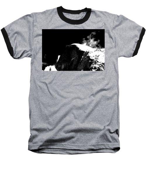Half Dome In Winter Bw Baseball T-Shirt