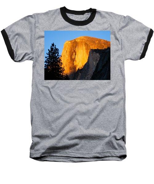 Half Dome Yosemite At Sunset Baseball T-Shirt