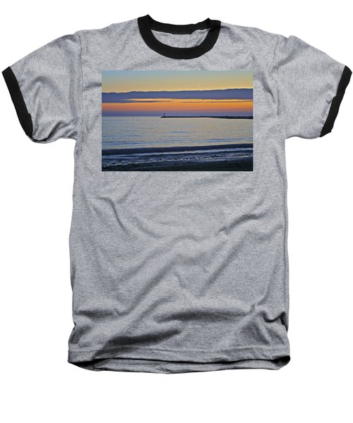 Half Moon Bay Under The Moon At Sunset Baseball T-Shirt