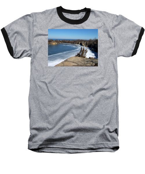 Icy Quarry Baseball T-Shirt by Catherine Gagne