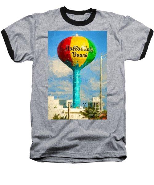 Hallandale Beach Water Tower Baseball T-Shirt