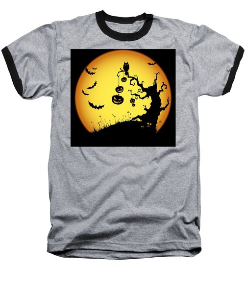 Baseball T-Shirt featuring the photograph Halloween Haunted Tree by Gianfranco Weiss
