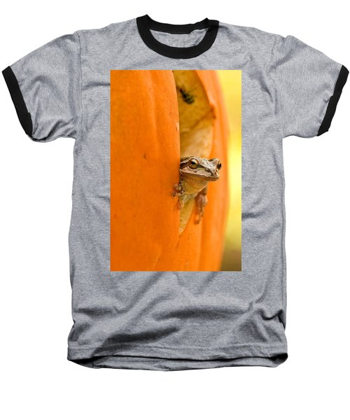 Halloween Surprise  Baseball T-Shirt by Jean Noren
