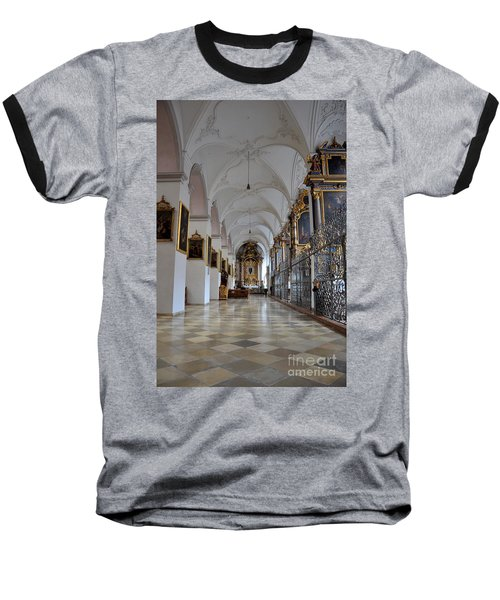 Baseball T-Shirt featuring the photograph Hallway Of A Church Munich Germany by Imran Ahmed