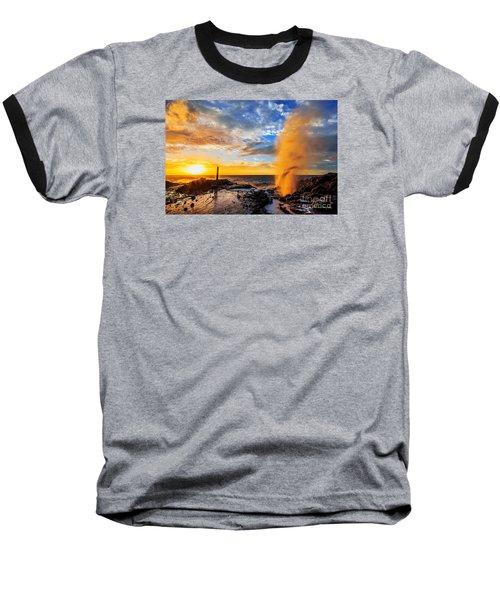 Halona Blowhole At Sunrise Baseball T-Shirt