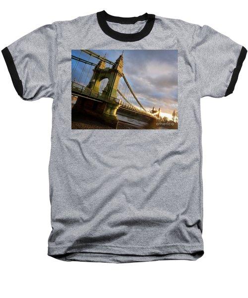 Baseball T-Shirt featuring the photograph Hammersmith Bridge In London by Peta Thames