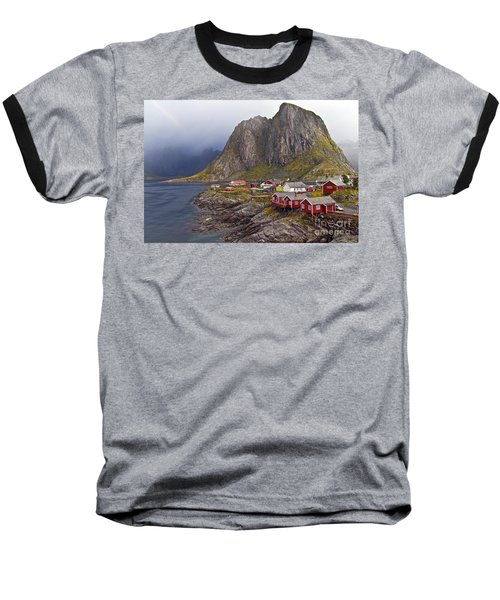 Hamnoy Rorbu Village Baseball T-Shirt