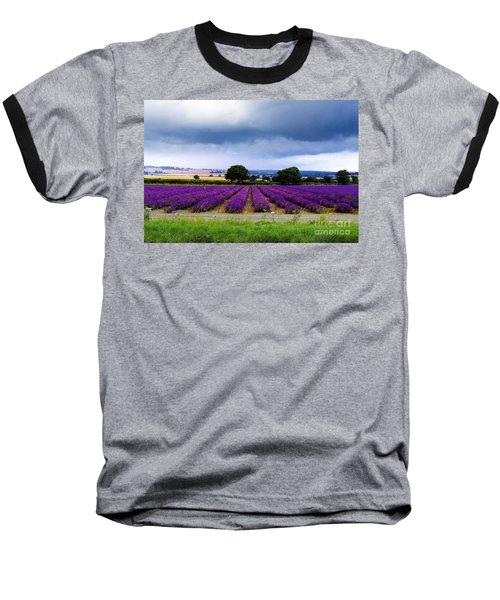 Hampshire Lavender Field Baseball T-Shirt