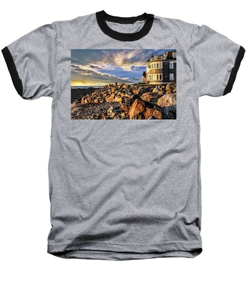 Hampton Beach Sunrise Baseball T-Shirt