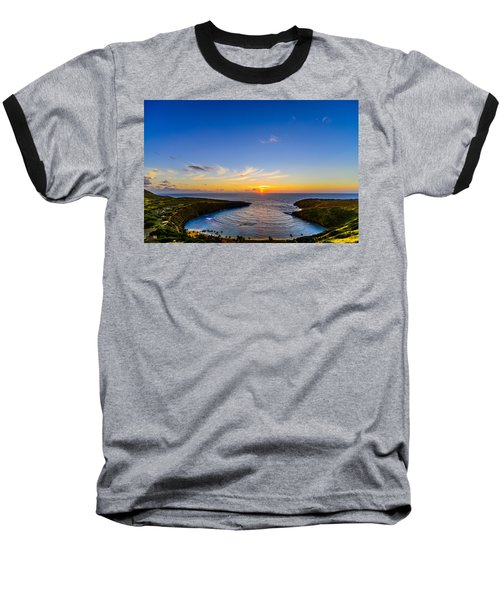 Hanauma Bay Sunrise Baseball T-Shirt