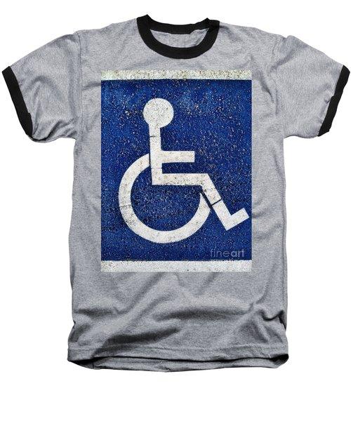 Handicapped Symbol Baseball T-Shirt