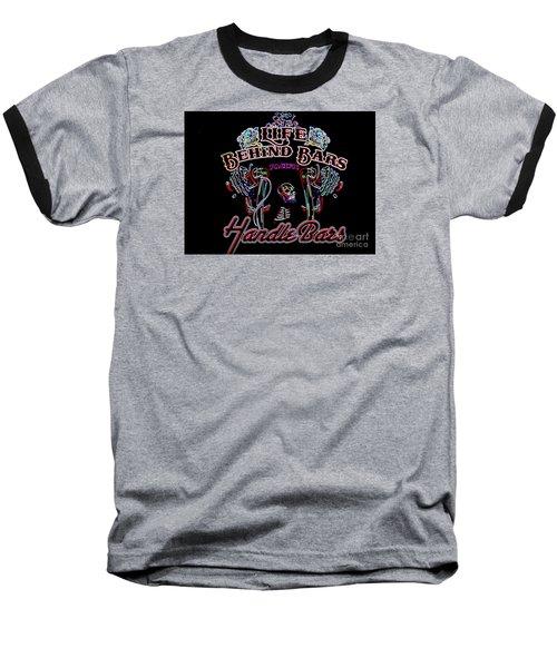 Handle Bars In Neon Baseball T-Shirt