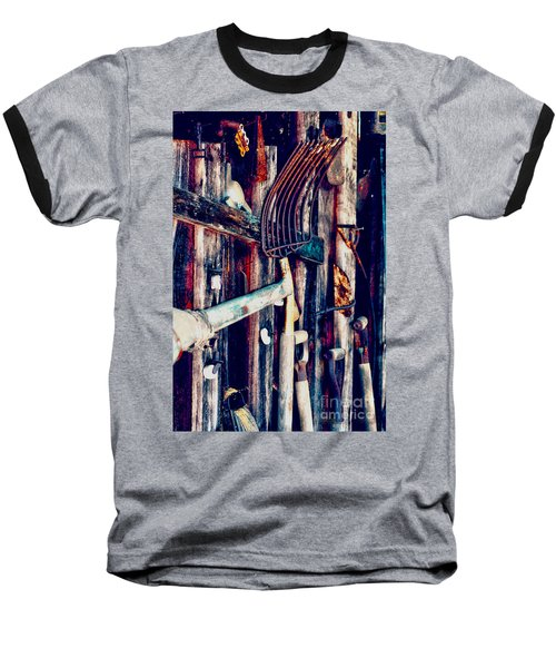 Baseball T-Shirt featuring the photograph Handles And The Pitchfork by Lesa Fine