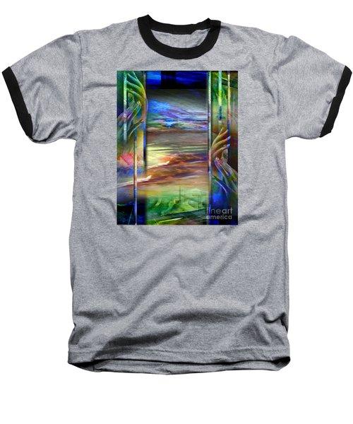 Hands-prisoned Baseball T-Shirt by Allison Ashton