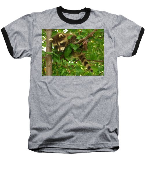 Baseball T-Shirt featuring the photograph Hang In There by James Peterson