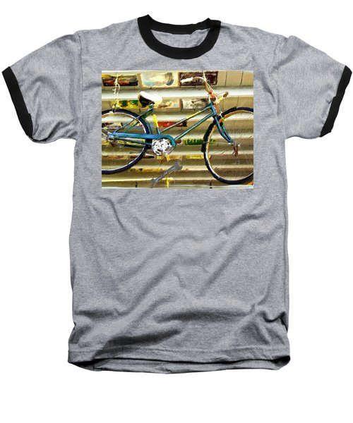Hanging Bike Baseball T-Shirt