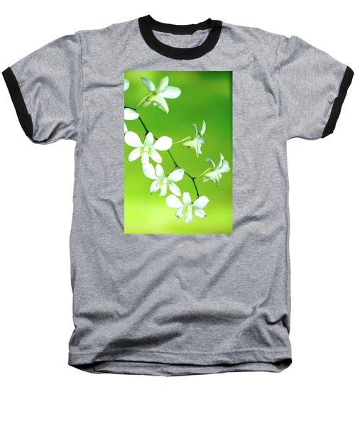 Baseball T-Shirt featuring the photograph Hanging White Orchids by Lehua Pekelo-Stearns