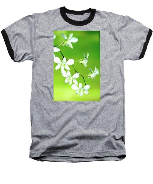 Hanging White Orchids Baseball T-Shirt