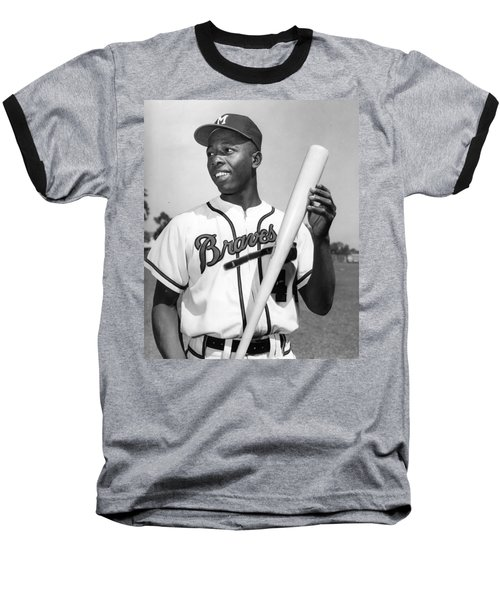 Hank Aaron Poster Baseball T-Shirt by Gianfranco Weiss