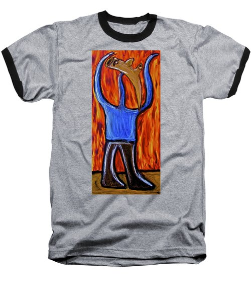 Baseball T-Shirt featuring the painting Happiness 12-002 by Mario Perron